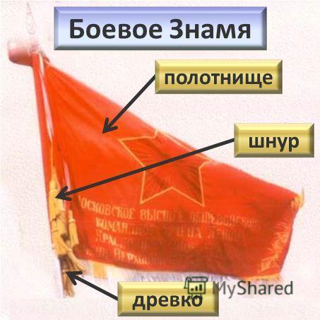 Боевое Знамя шнур древко полотнище
