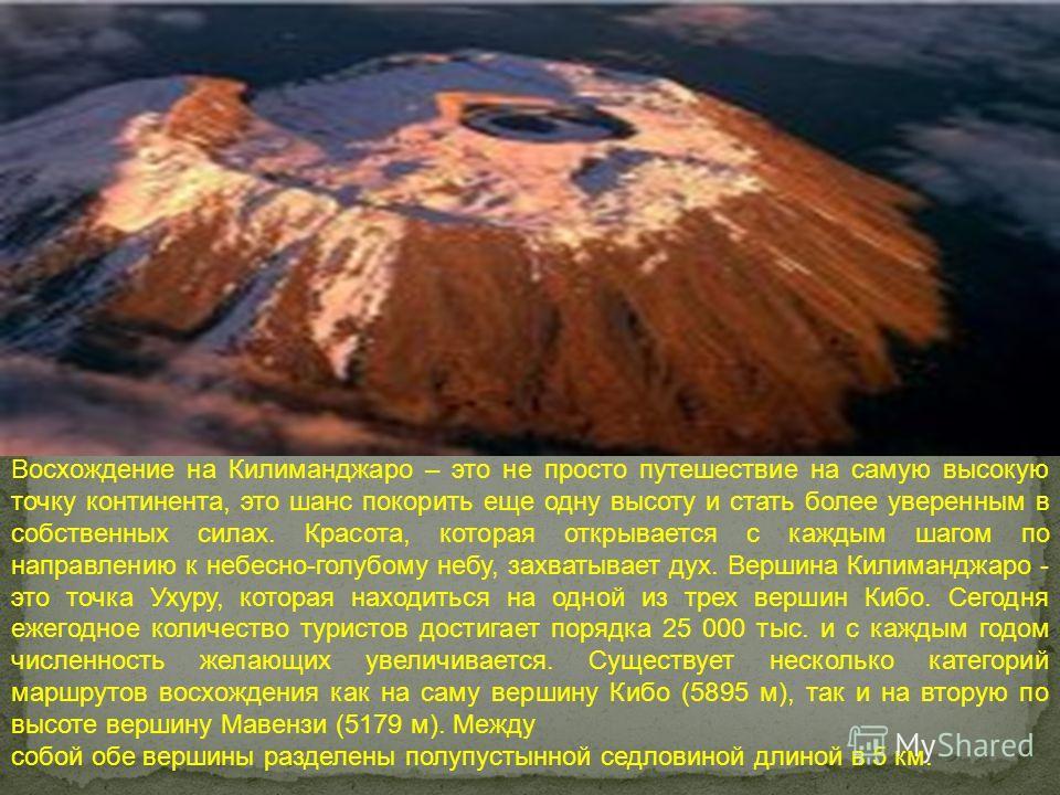 . Восхождение на Килиманджаро – это не просто путешествие на самую высокую точку континента, это шанс покорить еще одну высоту и стать более уверенным в собственных силах. Красота, которая открывается с каждым шагом по направлению к небесно-голубому