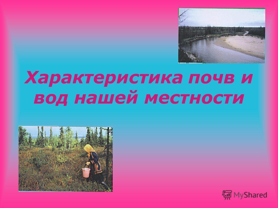 Характеристика почв и вод нашей местности