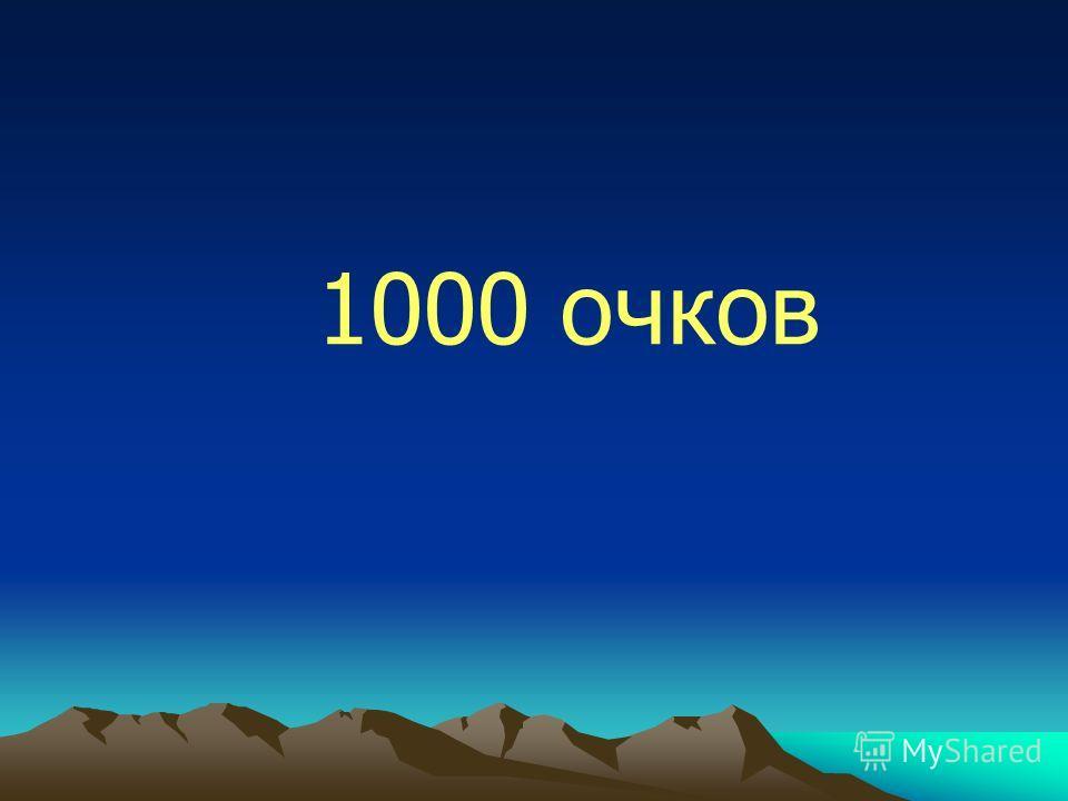 1000 очков