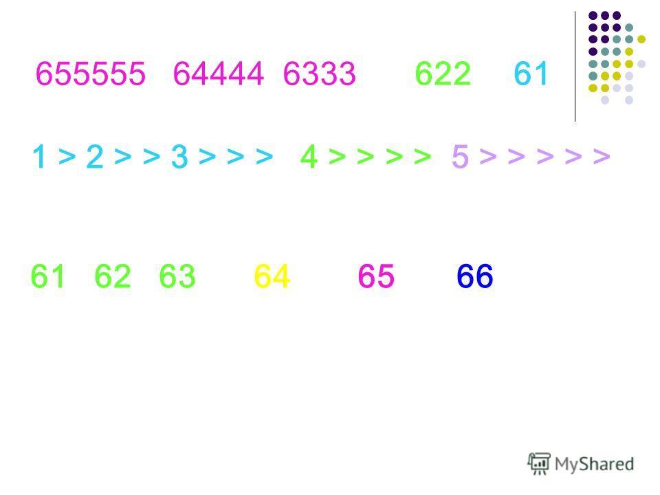 655555 64444 6333 62261 1 > 2 > > 3 > > >4 > > > >5 > > > > > 61 62 63 646566