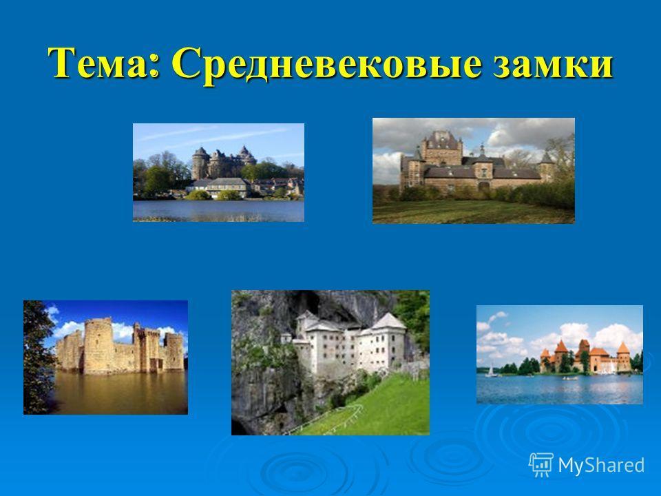 Тема : Средневековые замки