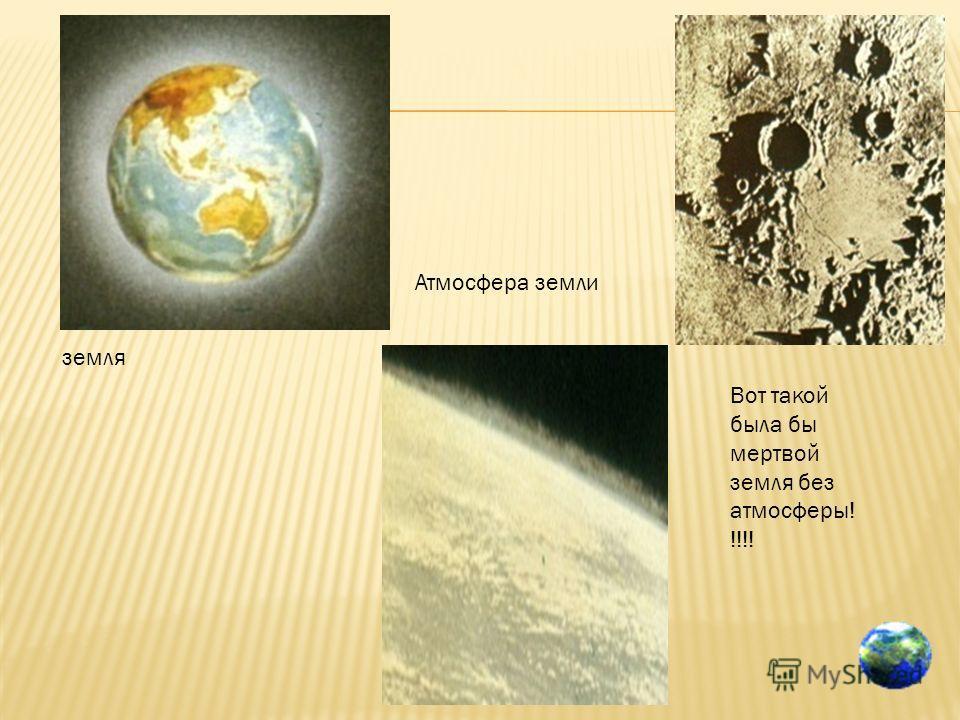 земля Атмосфера земли Вот такой была бы мертвой земля без атмосферы! !!!!