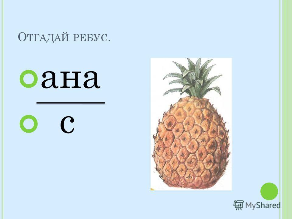 О ТГАДАЙ РЕБУС. ана с