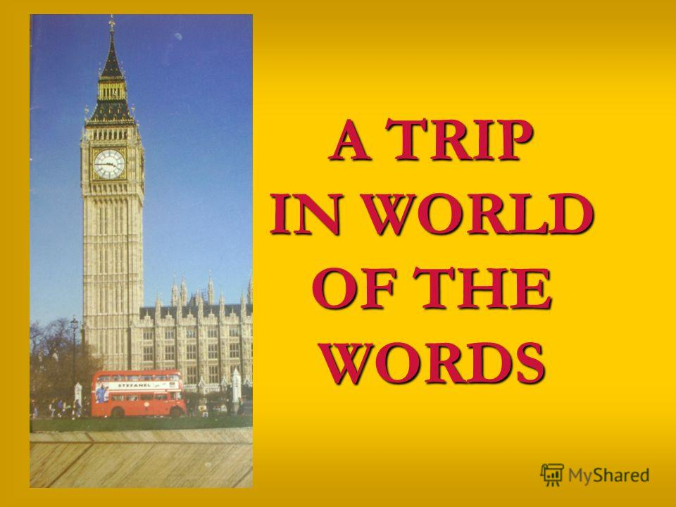 A TRIP IN WORLD OF THE WORDS