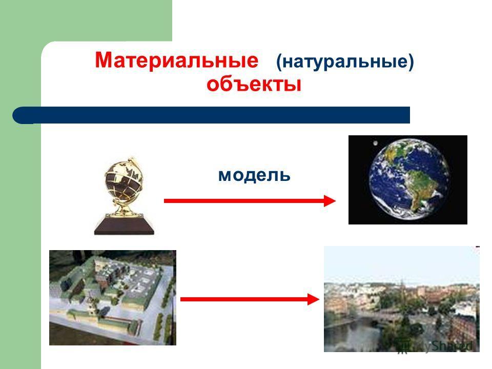 Материальные (натуральные) объекты модель