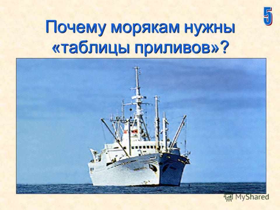 21 Почему морякам нужны «таблицы приливов»?