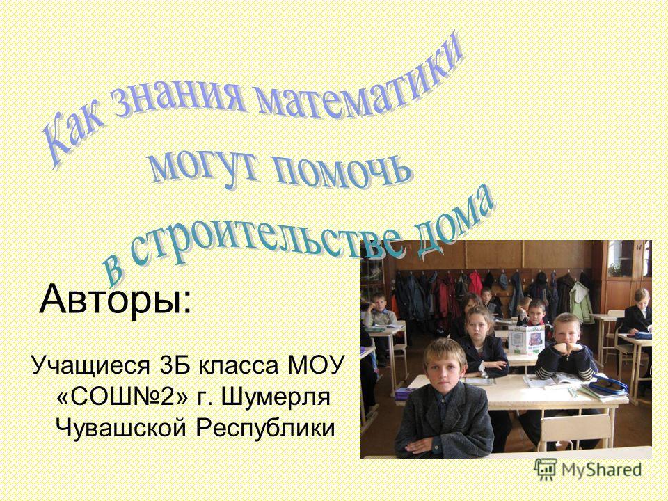 Авторы: Учащиеся 3Б класса МОУ «СОШ2» г. Шумерля Чувашской Республики