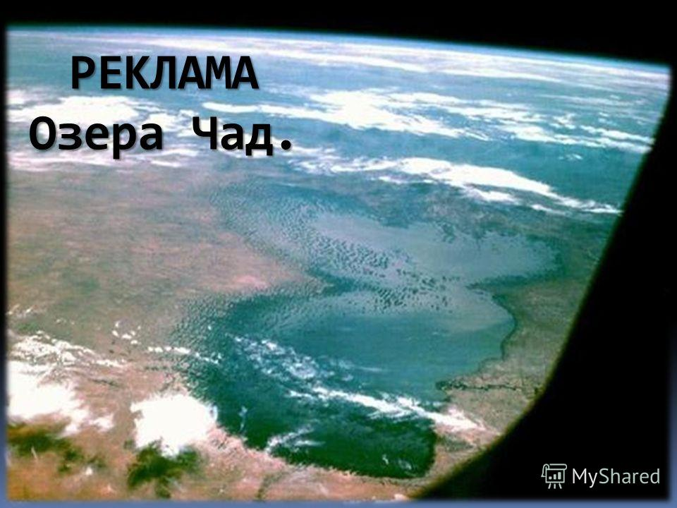 РЕКЛАМА Озера Чад.