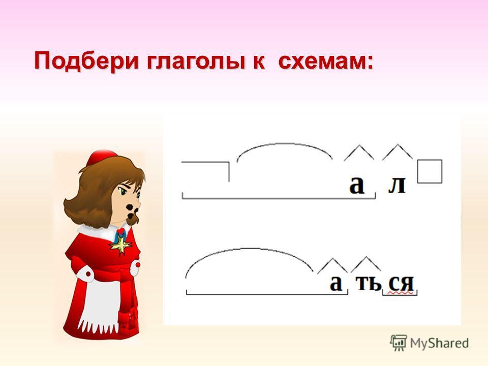Подбери глаголы к схемам: Подбери глаголы к схемам: 2 вариант.