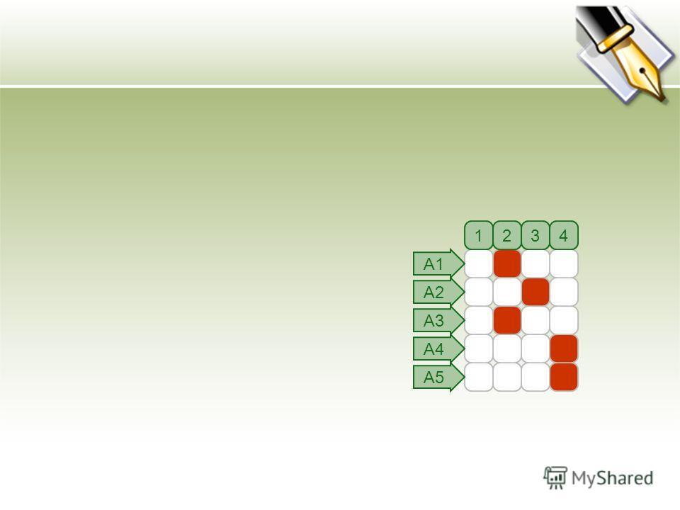 1234 А1 А2 А3 А4 А5