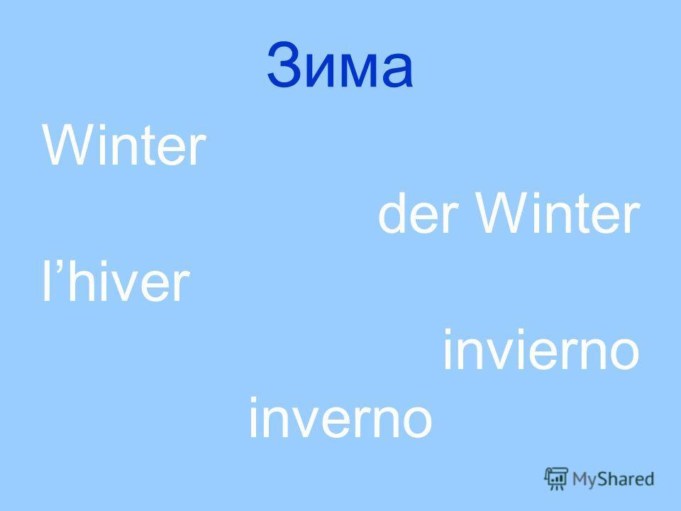 Зима Winter der Winter lhiver invierno inverno