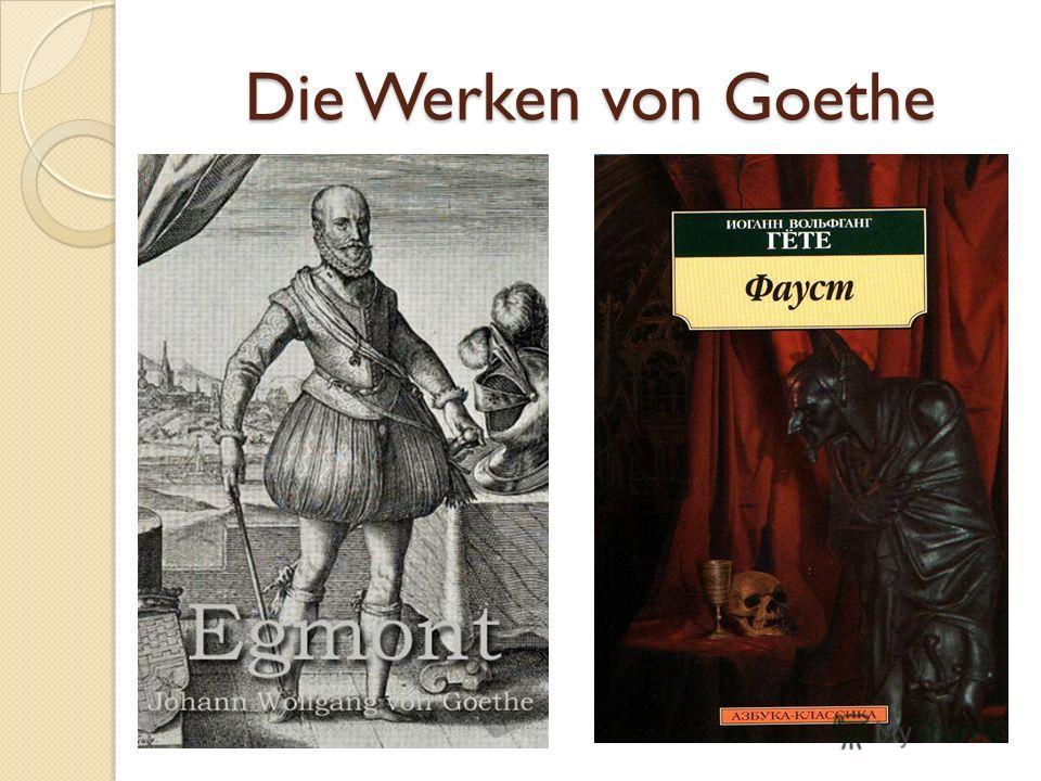Die Werken von Goethe