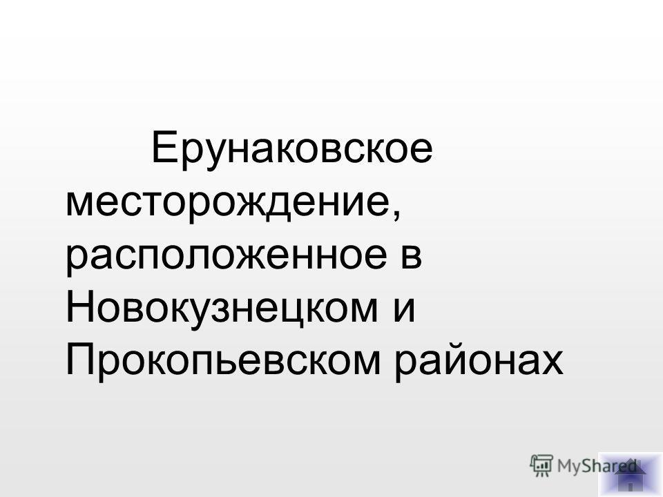 Ерунаковское месторождение, расположенное в Новокузнецком и Прокопьевском районах