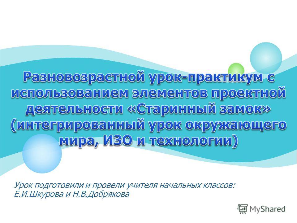 Урок подготовили и провели учителя начальных классов: Е.И.Шкурова и Н.В.Добрякова