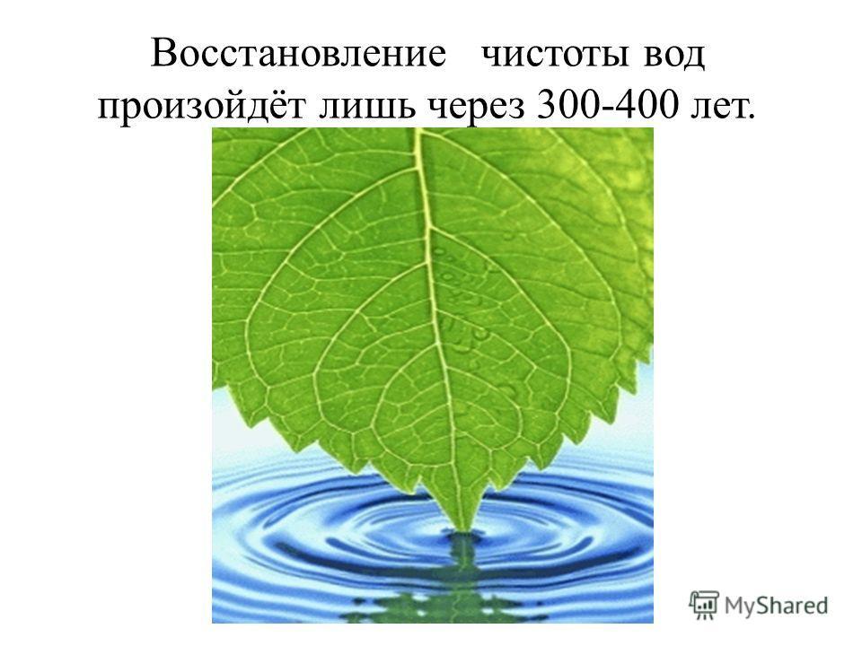 Восстановление чистоты вод произойдёт лишь через 300-400 лет.