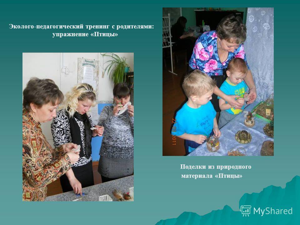 Эколого-педагогический тренинг с родителями: упражнение «Птицы» Поделки из природного материала «Птицы»