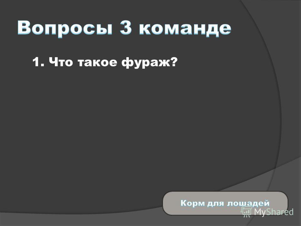 1. Что такое фураж?