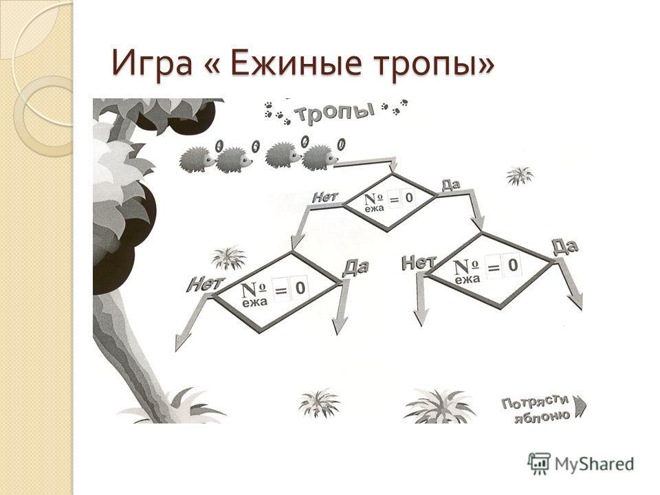 Игра « Ежиные тропы »