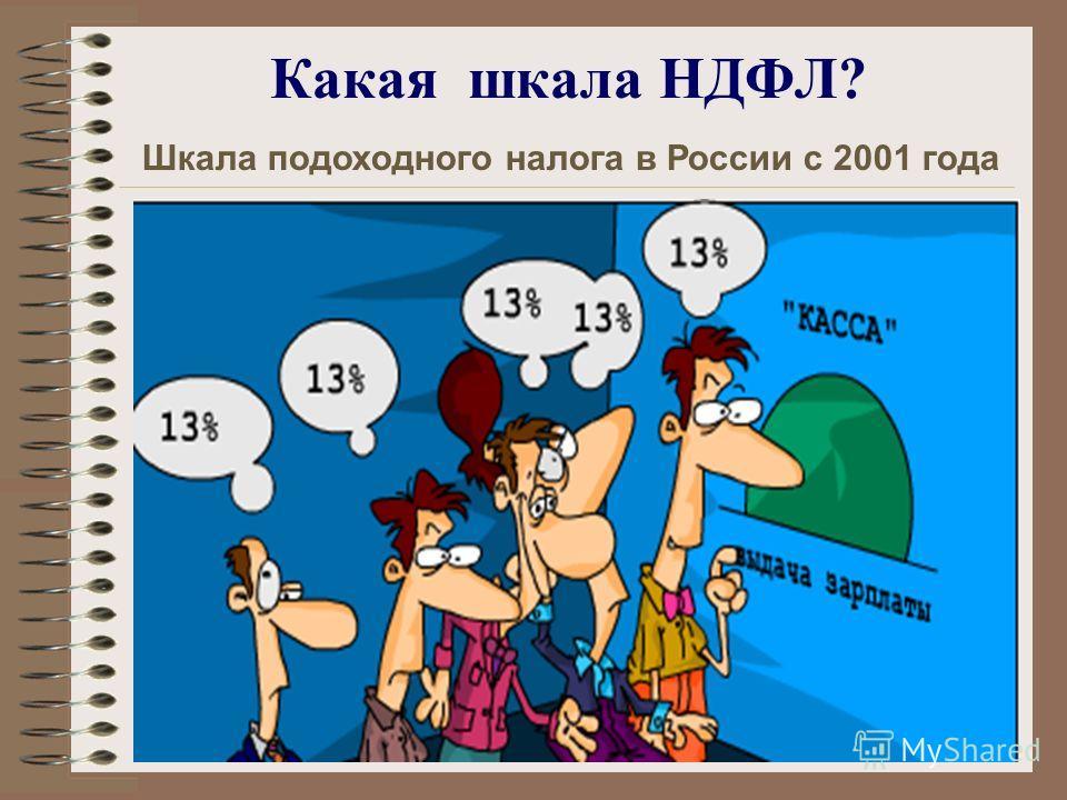 Какая шкала НДФЛ? Шкала подоходного налога в России с 2001 года