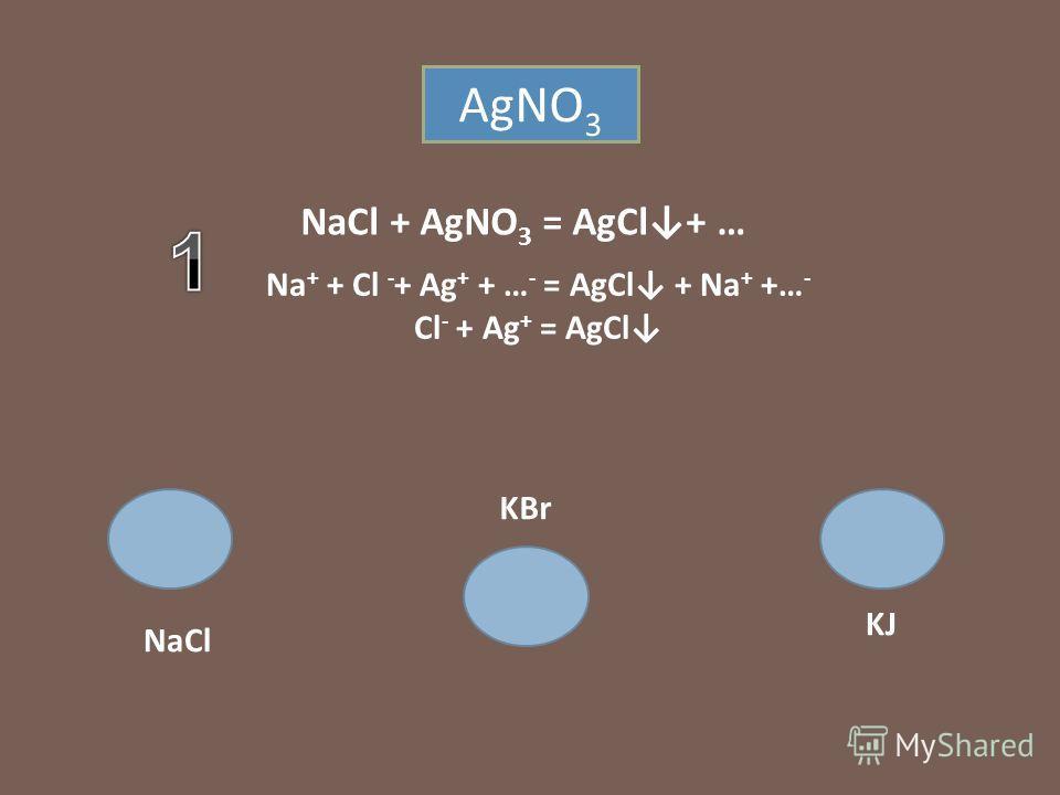 NaCl KBr KJ