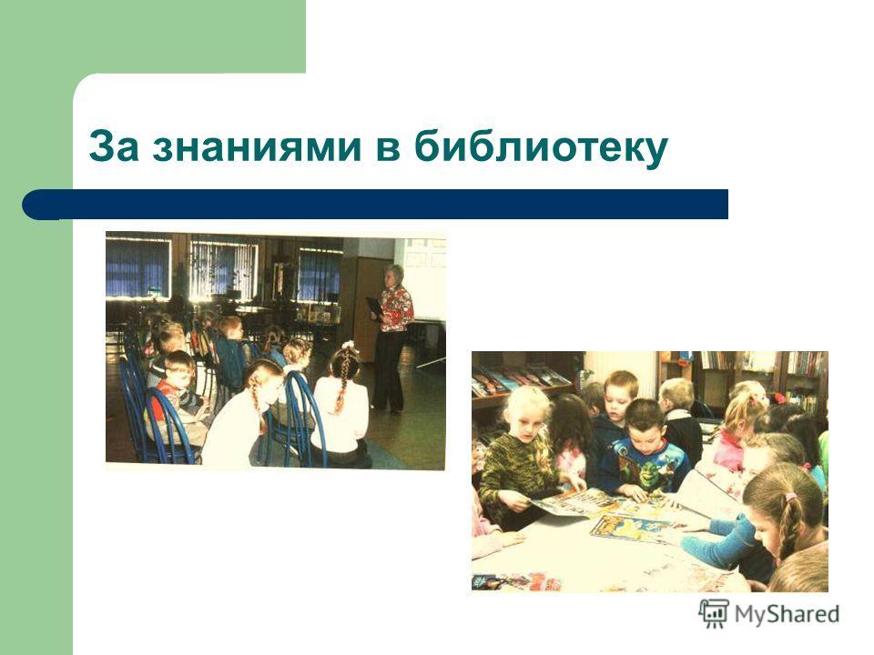За знаниями в библиотеку