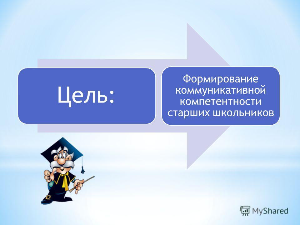 Цель: Формирование коммуникативной компетентности старших школьников