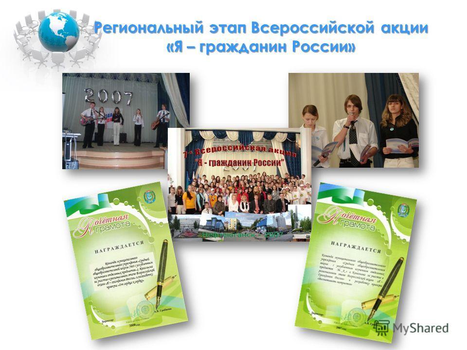 Региональный этап Всероссийской акции «Я – гражданин России»