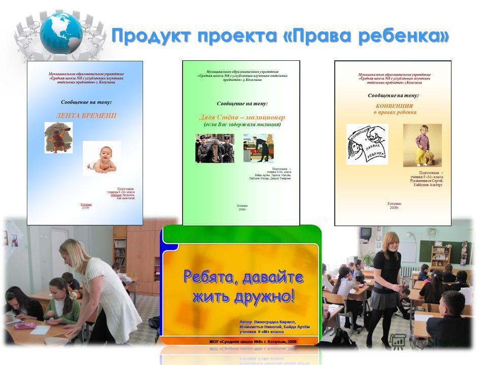 Продукт проекта «Права ребенка»