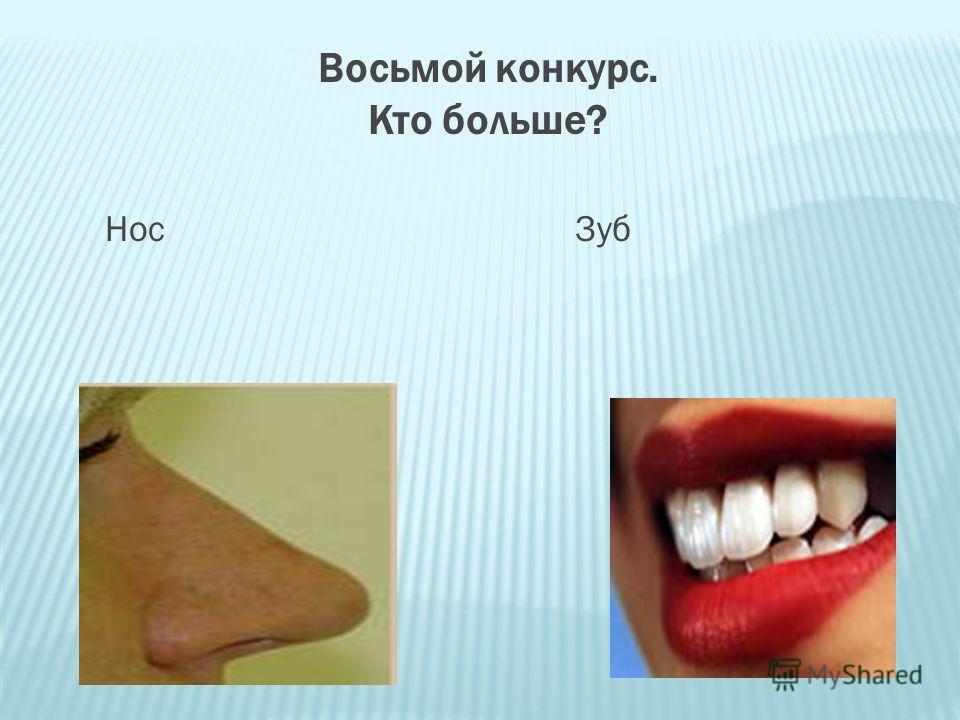 Восьмой конкурс. Кто больше? Нос Зуб