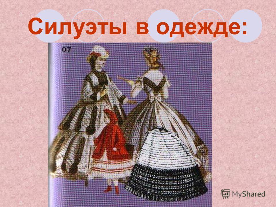 Силуэты в одежде: