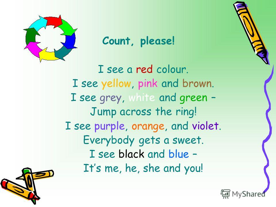 To Coloured English Lesson!