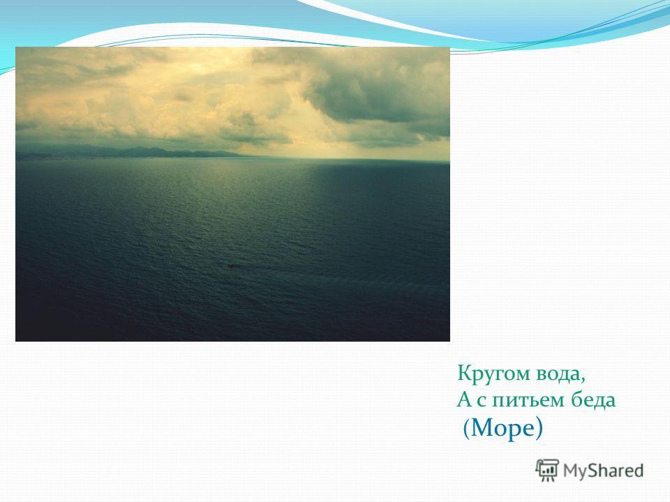 Кругом вода, А с питьем беда ( Море)