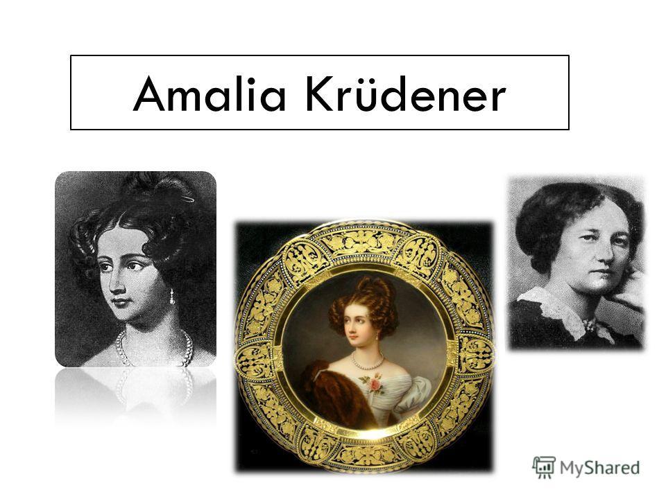 Amalia Krüdener