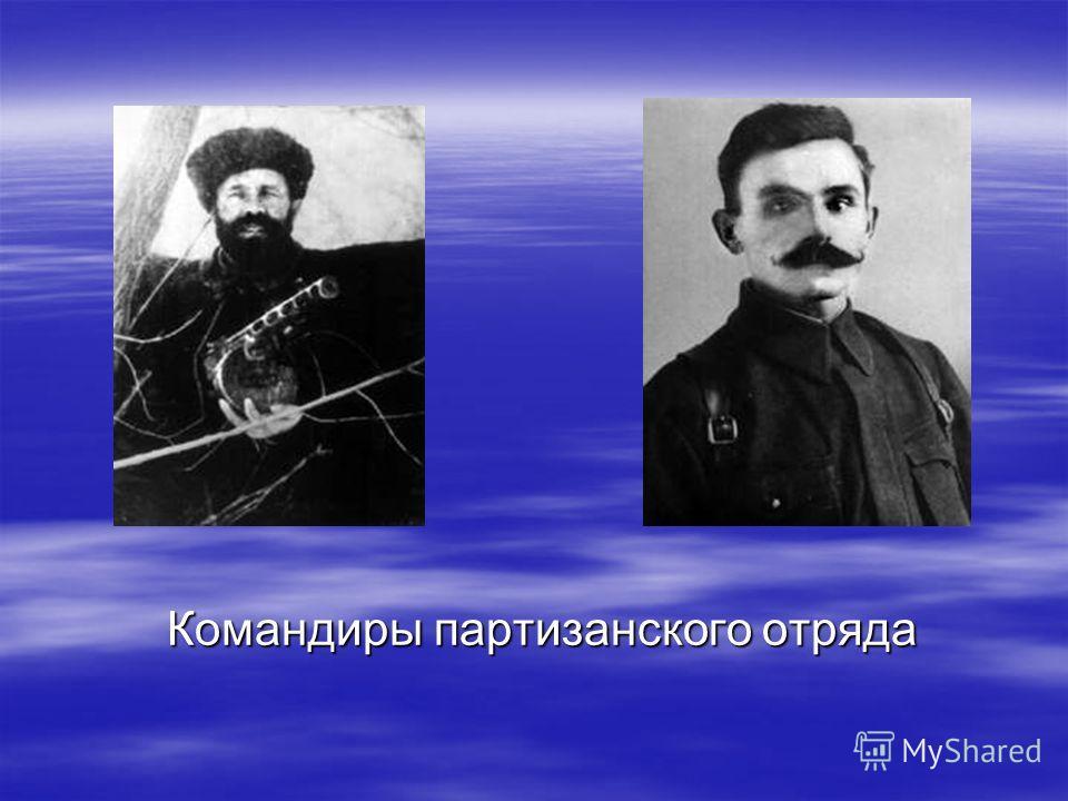 Командиры партизанского отряда Командиры партизанского отряда