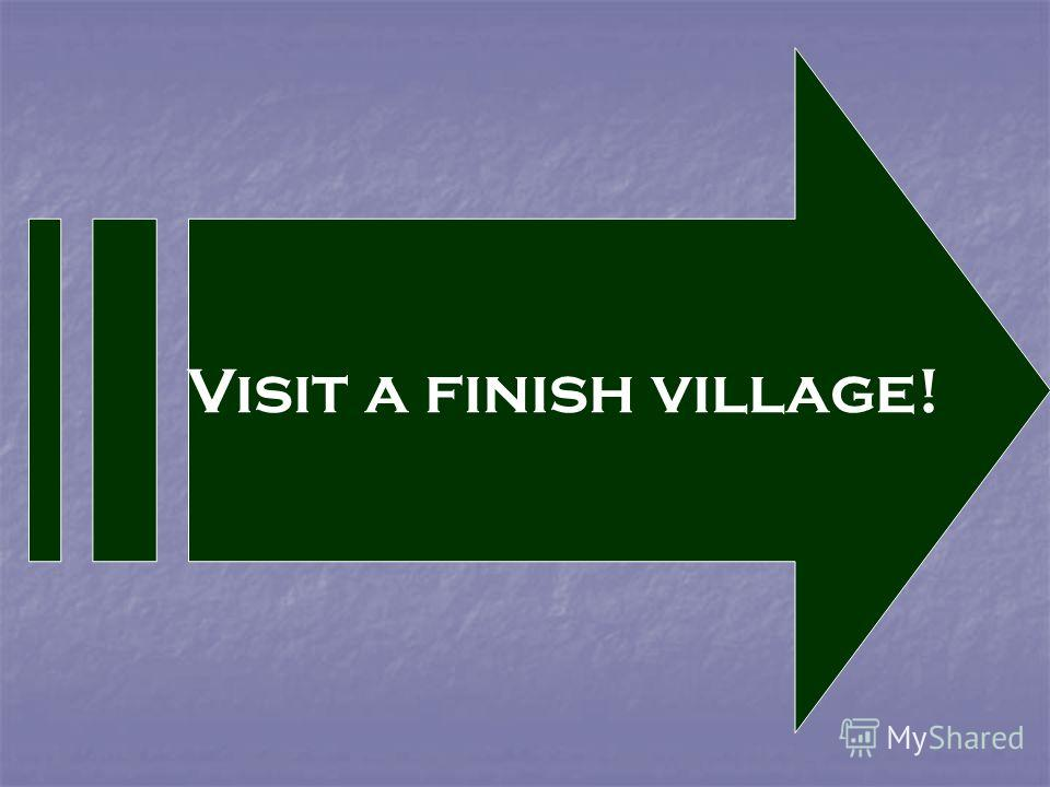 Visit a finish village!