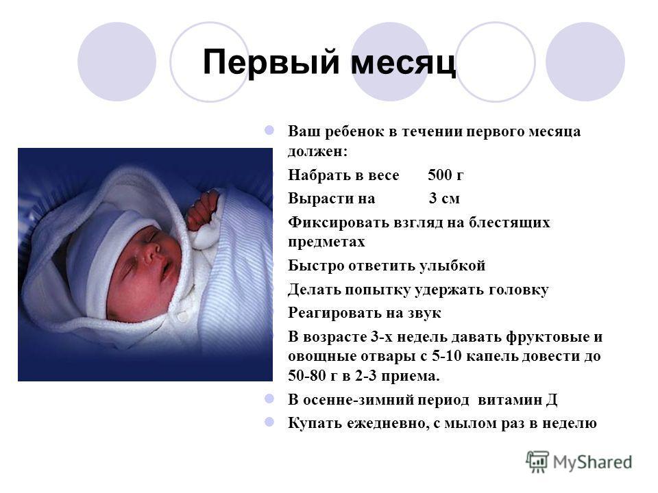 на сколько вырастает малыш за первый месяц заглушить все