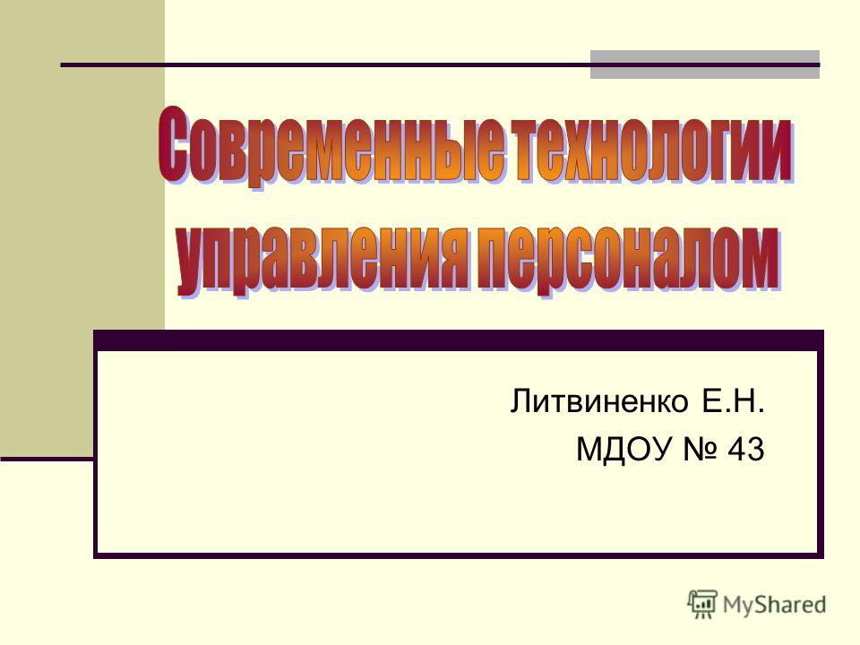 Литвиненко Е.Н. МДОУ 43