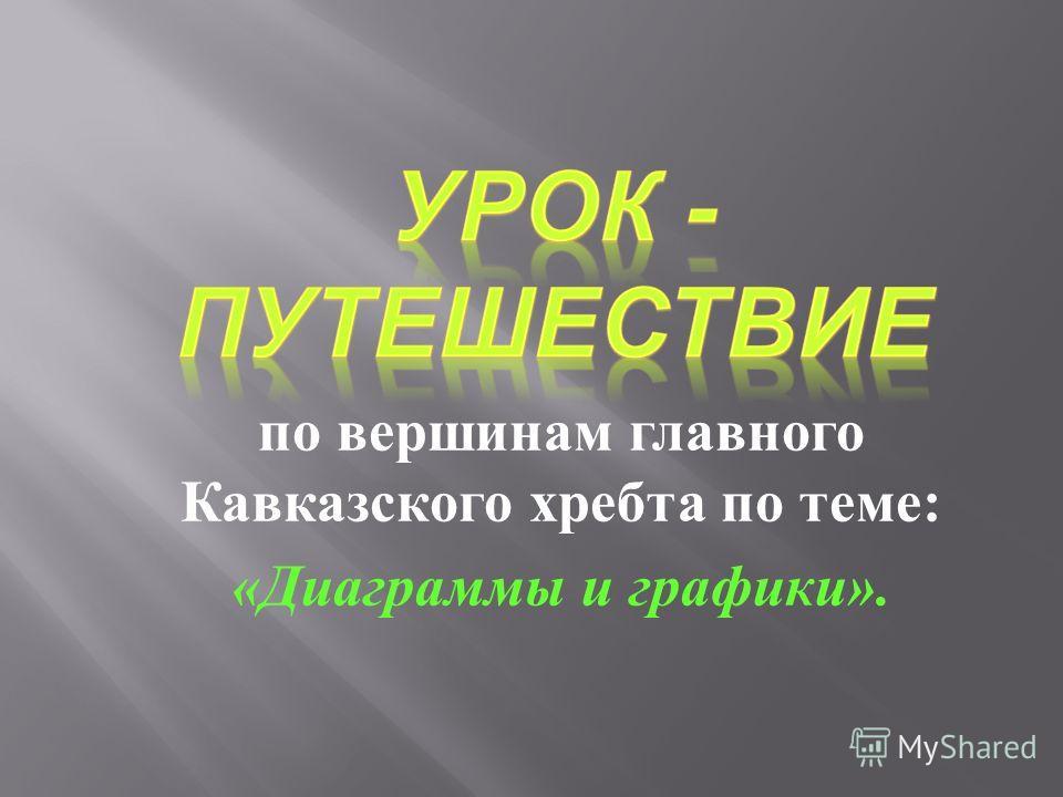 по вершинам главного Кавказского хребта по теме : « Диаграммы и графики ».