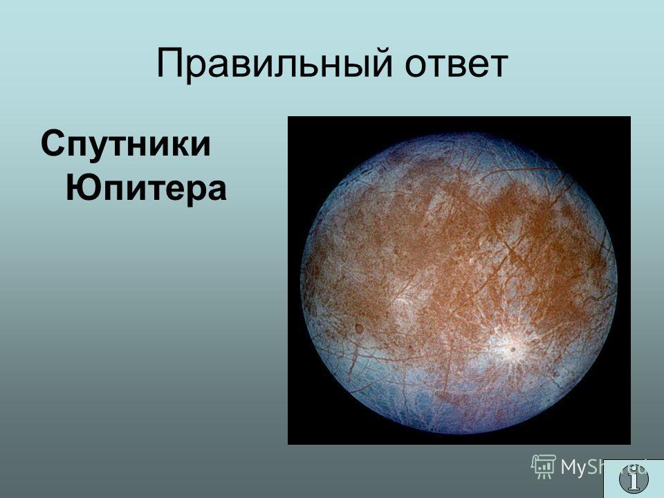 Правильный ответ Спутники Юпитера