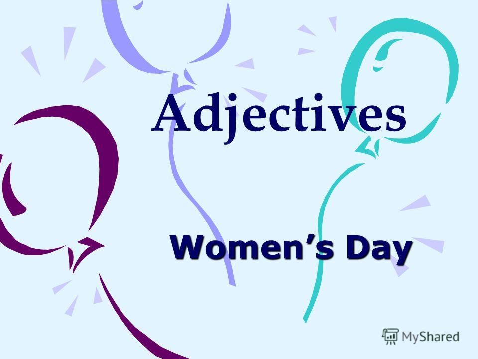 Womens Day Adjectives