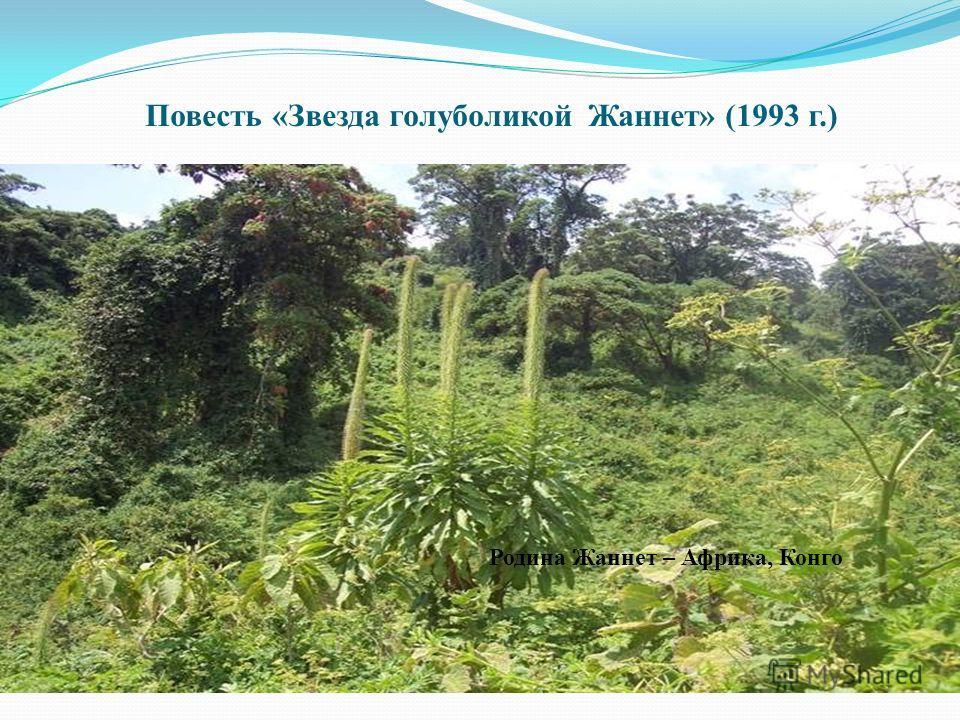 Повесть «Звезда голуболикой Жаннет» (1993 г.) Родина Жаннет – Африка, Конго