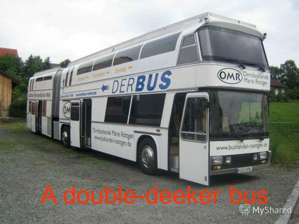 A double-deeker bus