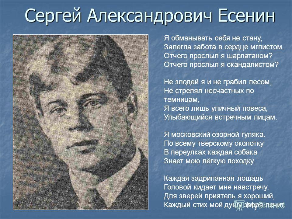 Я обманывать себя не стану - Сергей Есенин
