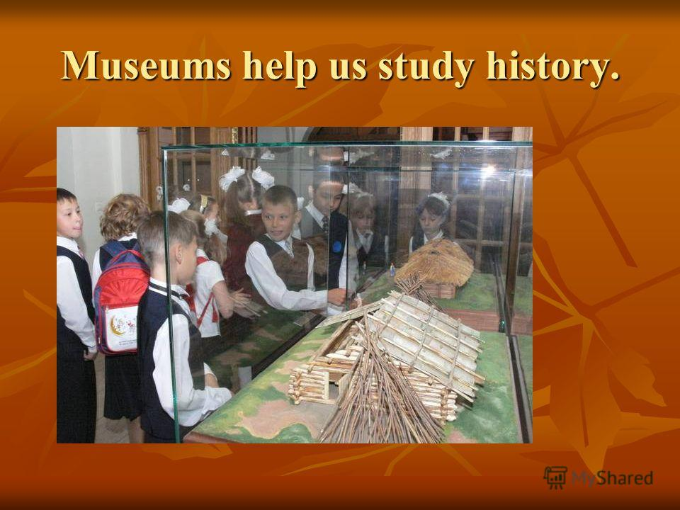 Museums help us study history.