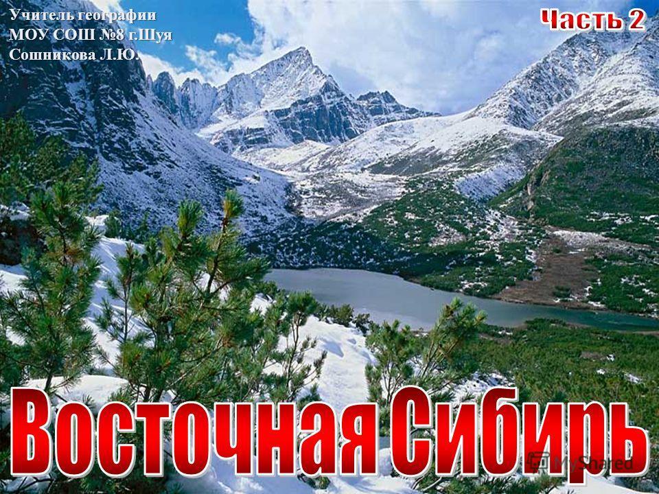 Учитель географии МОУ СОШ 8 г.Шуя Сошникова Л.Ю.
