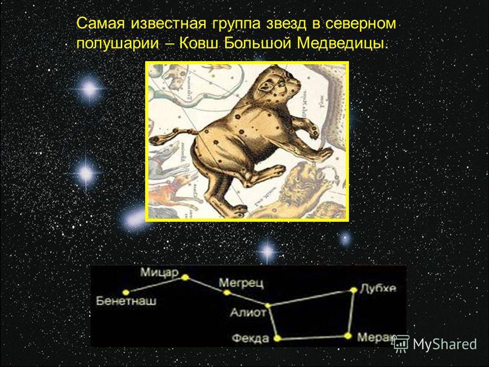 Самая известная группа звезд в северном полушарии – Ковш Большой Медведицы.