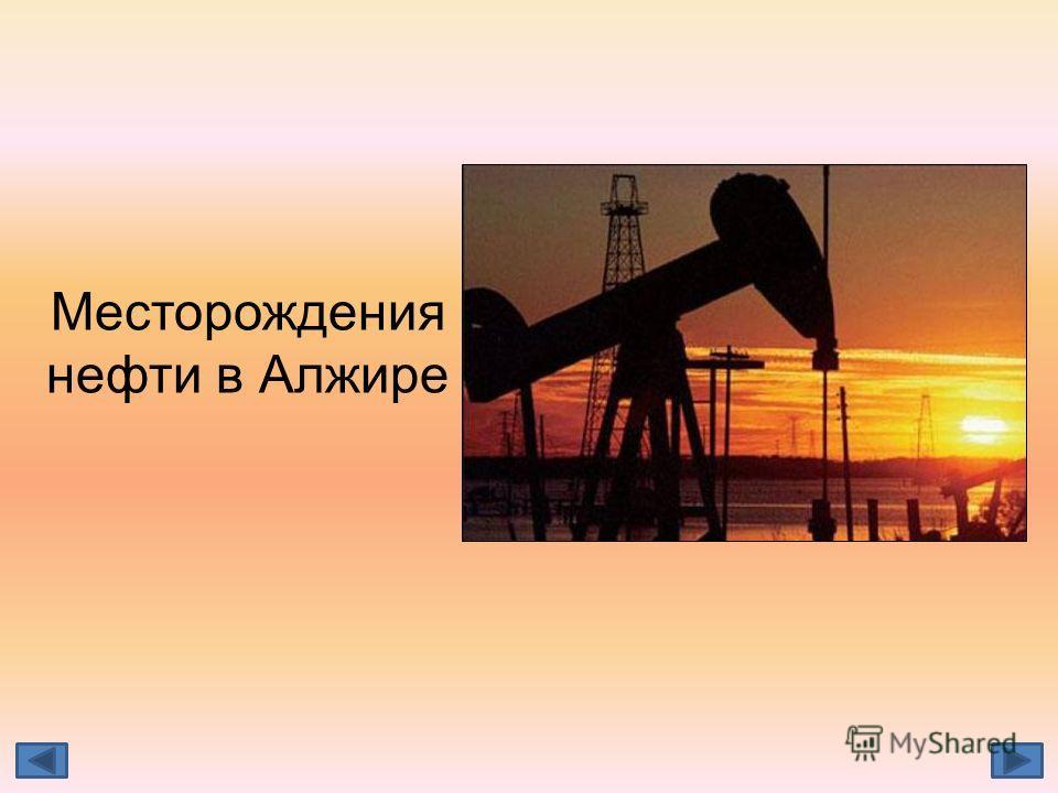 Месторождения нефти в Алжире
