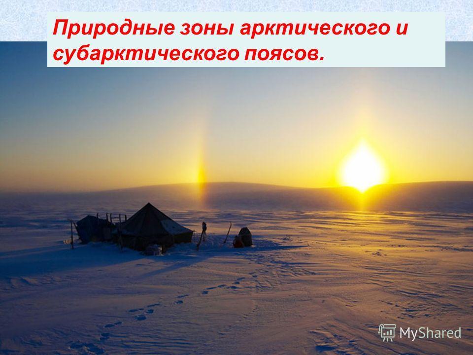 Природные зоны арктического и субарктического поясов.