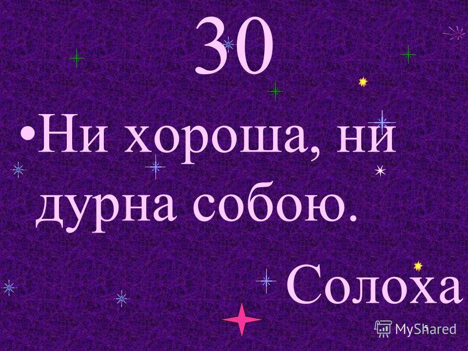 30 Ни хороша, ни дурна собою. Солоха 5